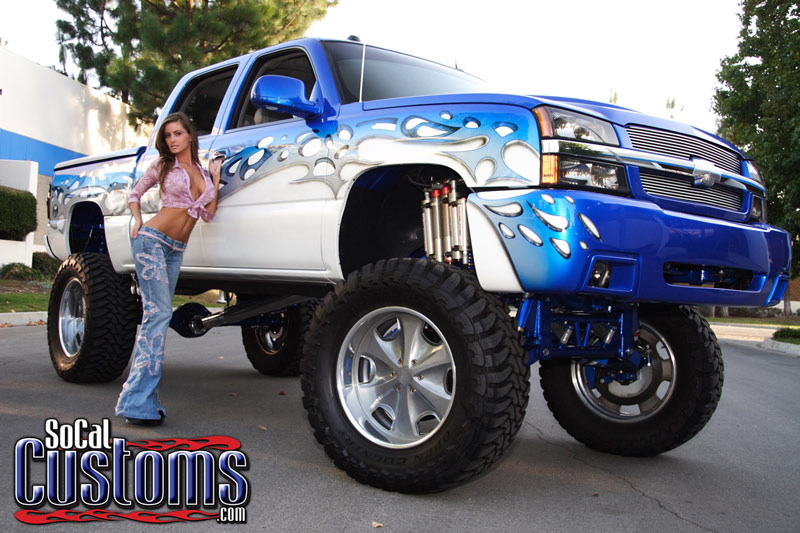 Socal Customs Model Holly Weber And A Lifted Chevy Pick Up