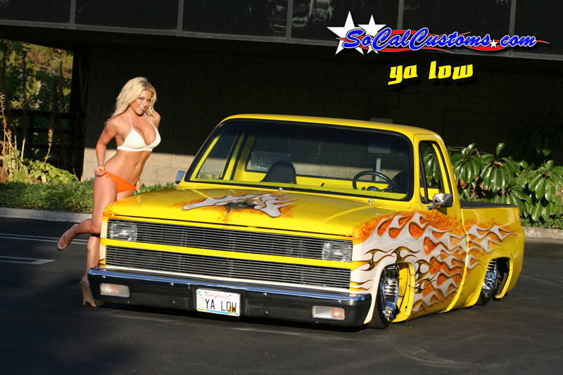 SoCalCustomscom Feature Truck With Model Nicole Albright